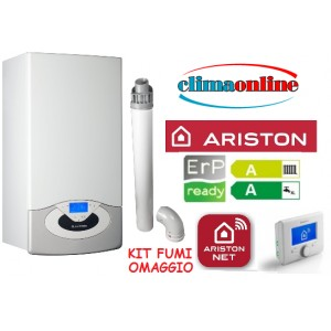 ARISTON GENUS PREMIUM NET WI-FI 24 KW NEW ERP CON KIT FUMI COASSIALE
