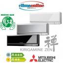MONOSPLIT MSZ-EF25V GAS R32 (Bianco/nero/argento)  9.000 btu INVERTER CLASSE A+++/A++