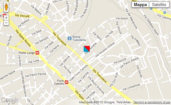 Cartina di Roma - Viale Amelia, 23/A -  Sede CLIMAONLINE Service