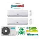 HISENSE NEW COMFORT GAS R32 12000+12000 BTU A++/A++